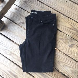 Land's End size 12 black mid rise straight jean